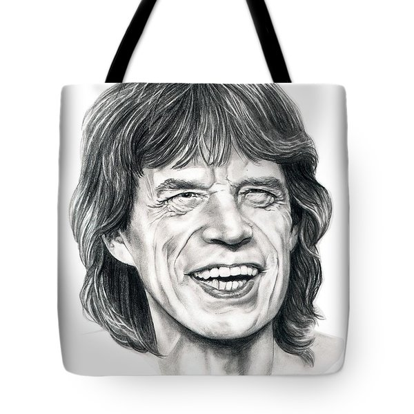 Mick Jagger Tote Bag by Murphy Elliott