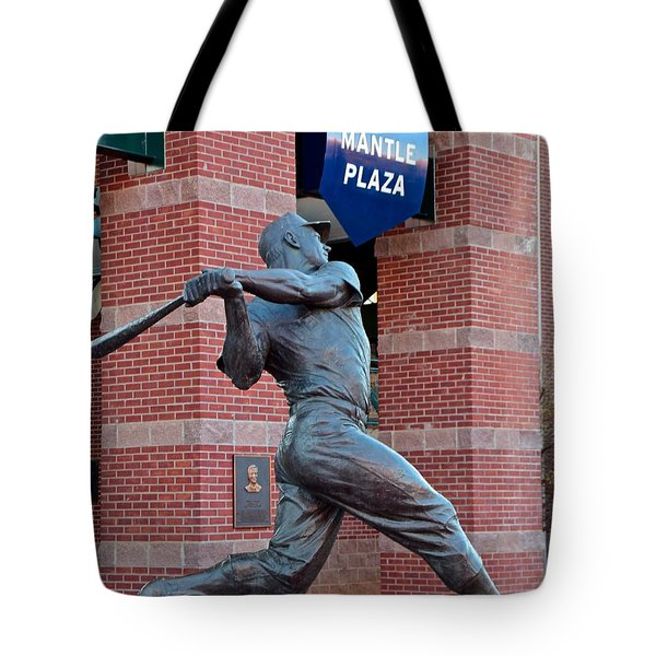 Mickey Mantle Tote Bag by Frozen in Time Fine Art Photography