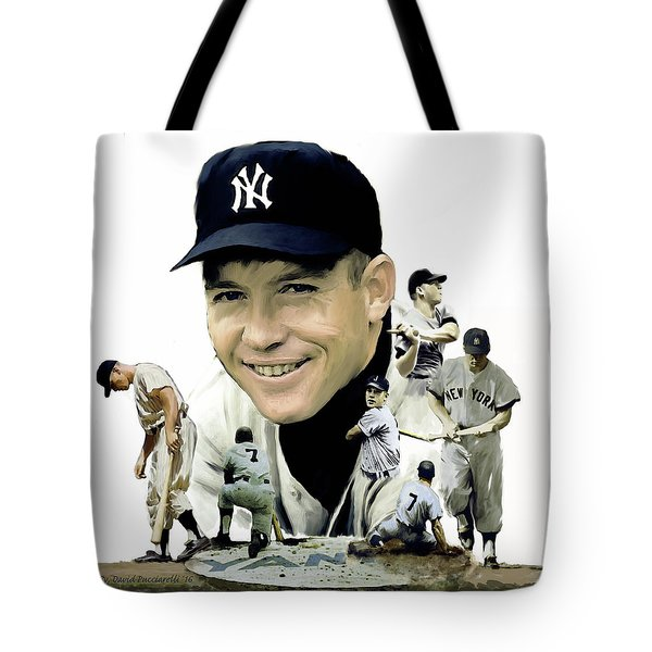 Mickey Mantle Legacy, II  Tote Bag by Iconic Images Art Gallery David Pucciarelli