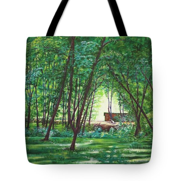 Midday Slumber -indian Landscapes Tote Bag by Usha Shantharam