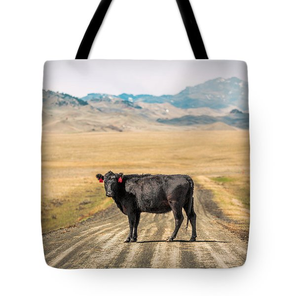 Middle Of The Road Tote Bag by Todd Klassy