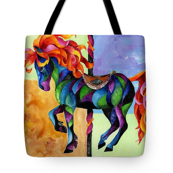 Midnight Fire Tote Bag by Sherry Shipley