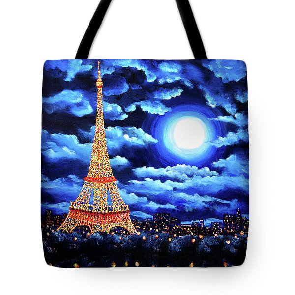 Midnight In Paris Tote Bag by Laura Iverson