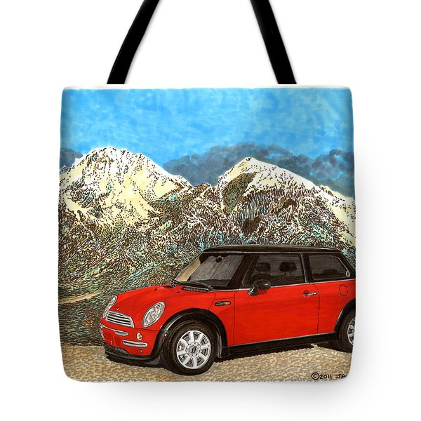 Mighty Mini Cooper S Tote Bag by Jack Pumphrey