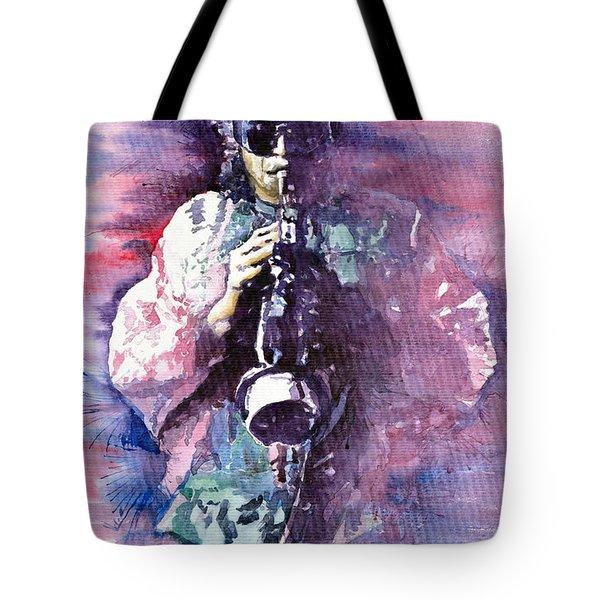 Miles Davis Meditation 2 Tote Bag by Yuriy  Shevchuk