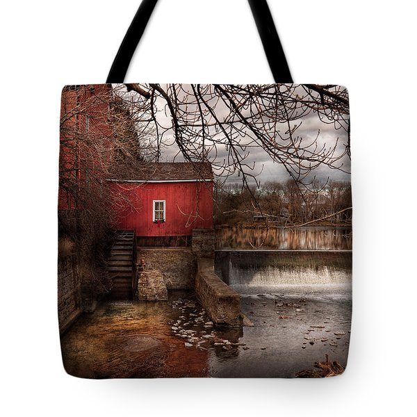 Mill - Clinton NJ - The mill and wheel Tote Bag by Mike Savad