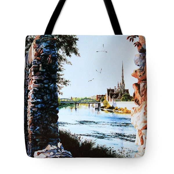 Mill Race Look-out Tote Bag by Hanne Lore Koehler