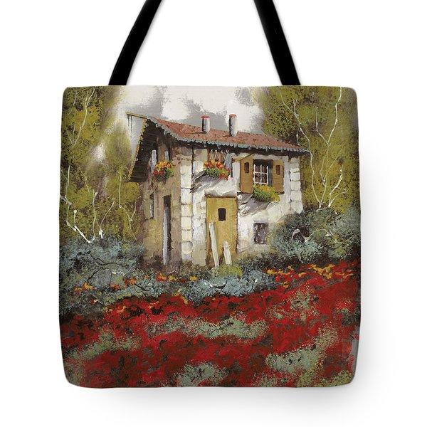 mille papaveri Tote Bag by Guido Borelli