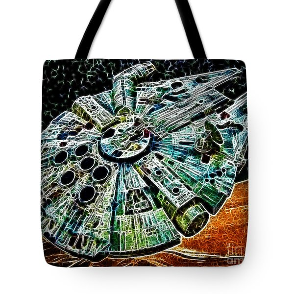 Millenium Falcon Tote Bag by Paul Ward