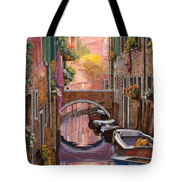 mimosa sui canali Tote Bag by Guido Borelli