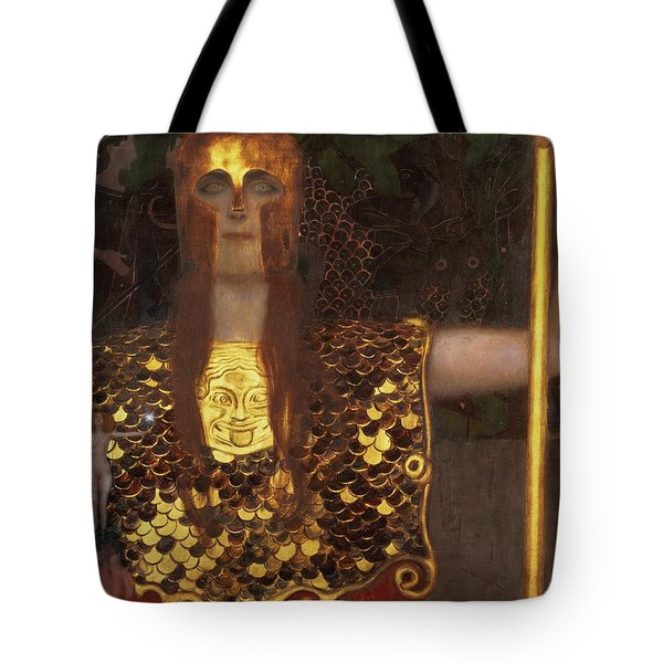 Minerva Tote Bag by Gustav Klimt