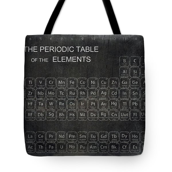 Minimalist Periodic Table Tote Bag by Daniel Hagerman