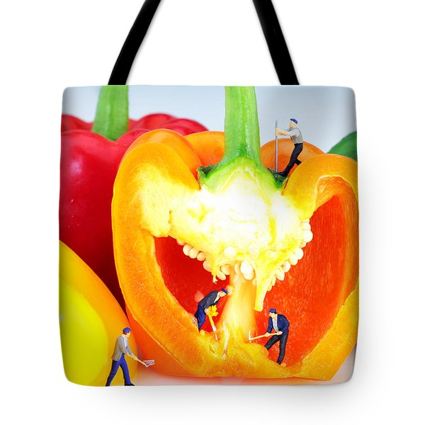 Mining in colorful peppers Tote Bag by Paul Ge