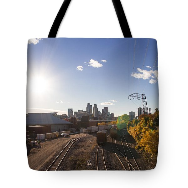 Minneapolis In The Fall Tote Bag by Zach Sumners