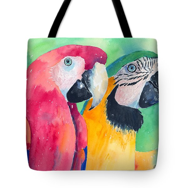 Minnie And Boggs Tote Bag by Arline Wagner