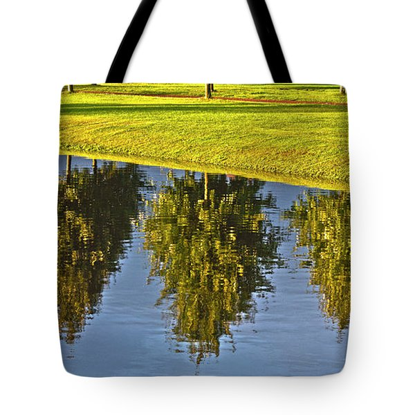 Mirroring Trees Tote Bag by Heiko Koehrer-Wagner