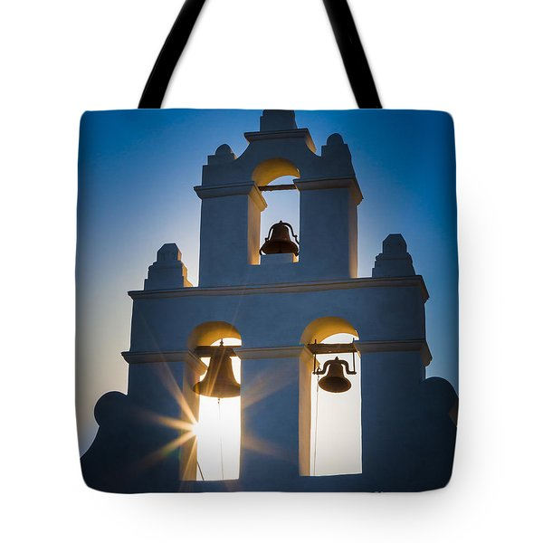 Mission Sunset Tote Bag by Inge Johnsson