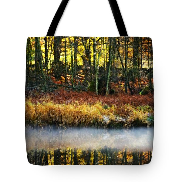 Mist On The Water Tote Bag by Meirion Matthias