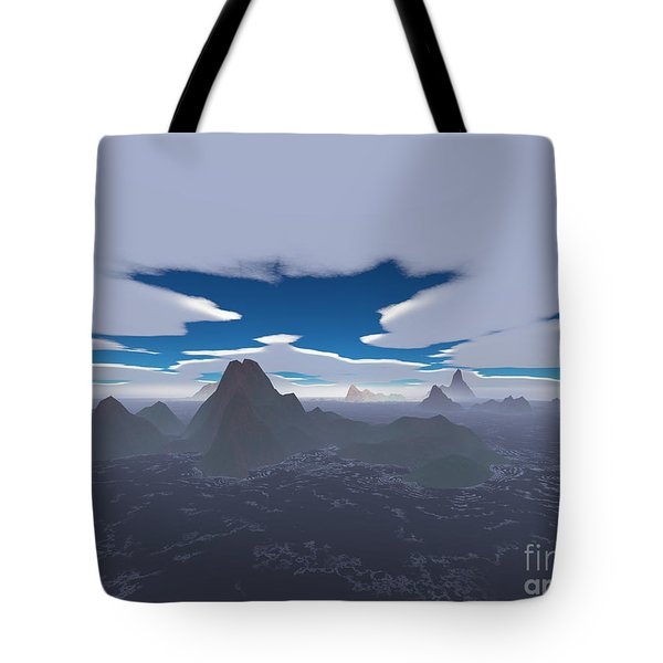 Misty Archipelago Tote Bag by Gaspar Avila