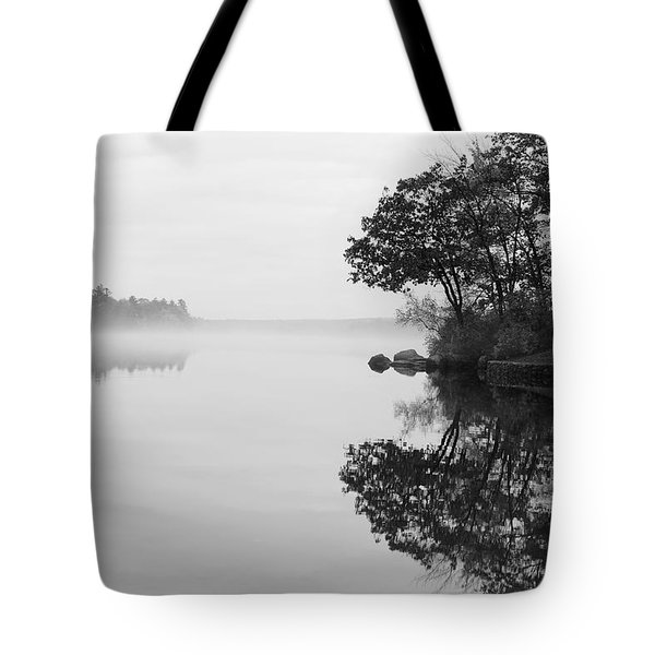 Misty Cove Tote Bag by Luke Moore