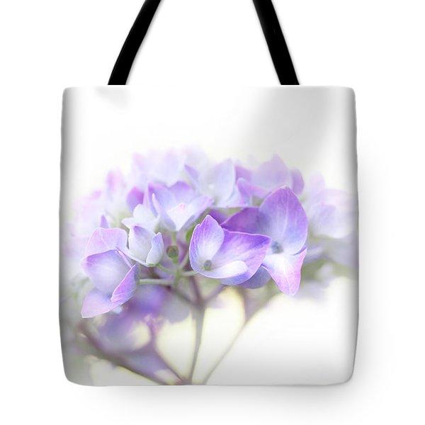 Misty Hydrangea Flower Tote Bag by Jennie Marie Schell