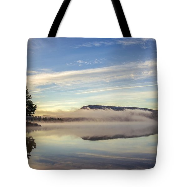 Misty Morning Tote Bag by Mark Papke