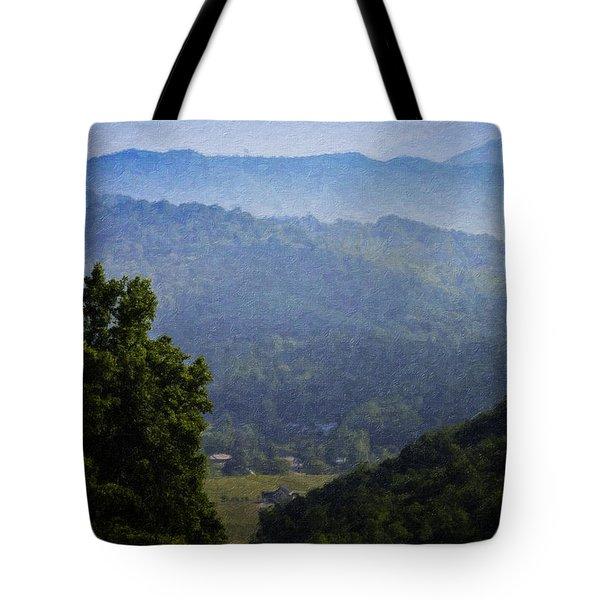 Misty Virginia Morning Tote Bag by Teresa Mucha