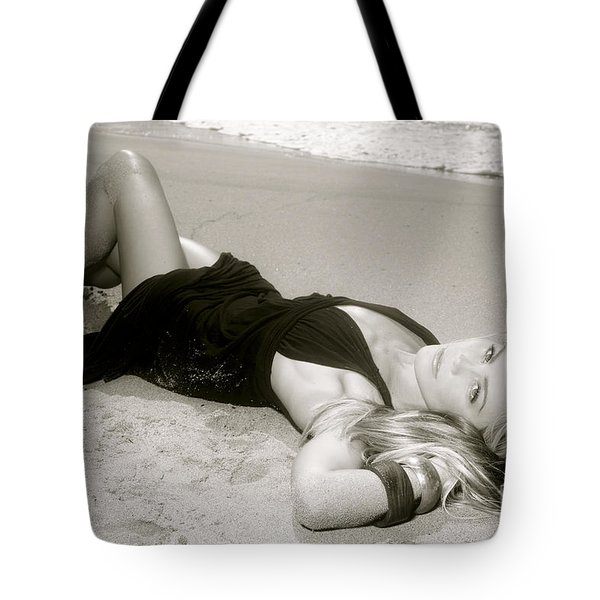 Model on Beach Tote Bag by Kicka Witte - Printscapes