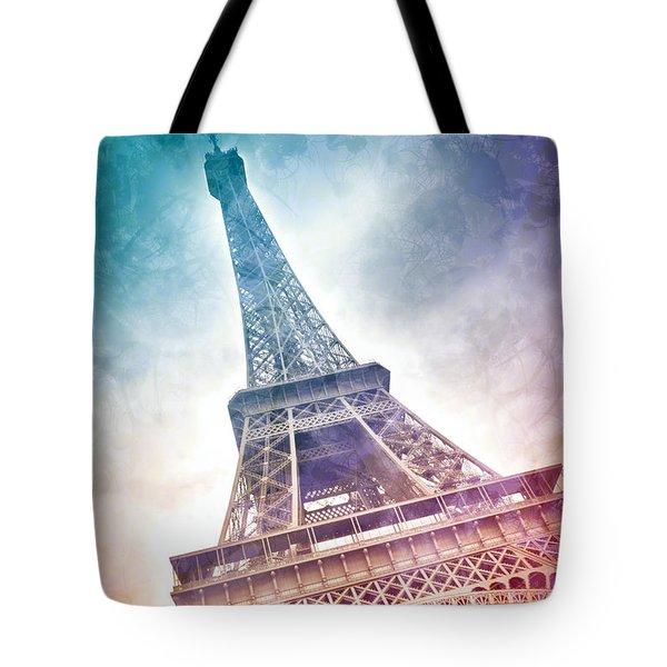 Modern-art Eiffel Tower 21 Tote Bag by Melanie Viola