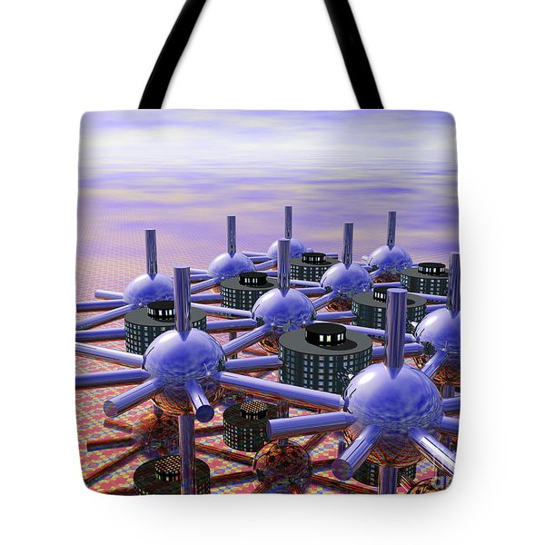 Modular City Tote Bag by Nicholas Burningham