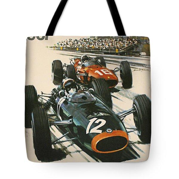 Monaco Grand Prix 1967 Tote Bag by Georgia Fowler