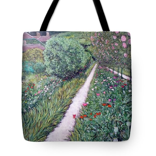 Monet's Garden Path Tote Bag by Tom Roderick