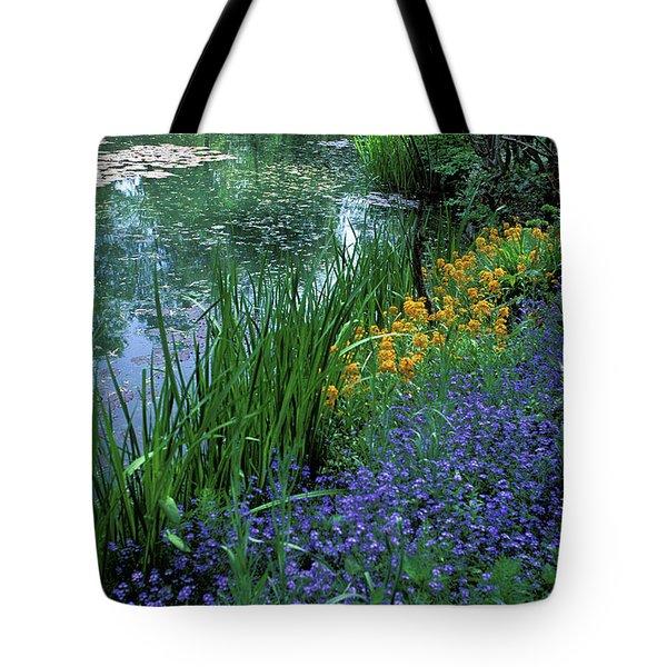 Monet's Lily Pond Tote Bag by Kathy Yates