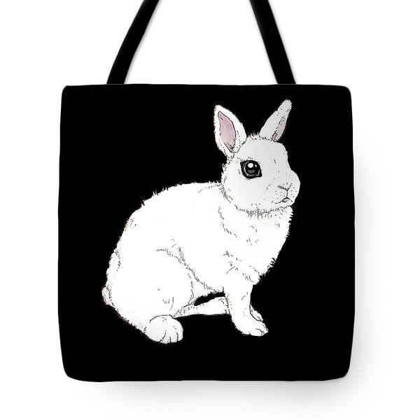 Monochrome Rabbit Tote Bag by Katrina Davis