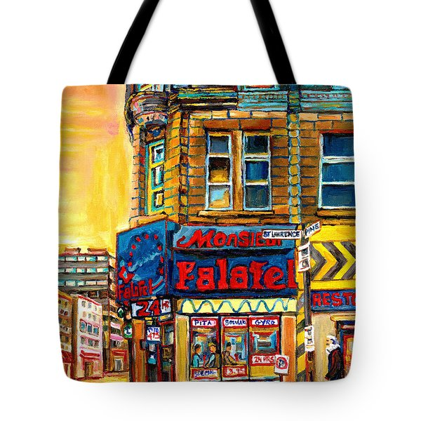 Monsieur Falafel Tote Bag by Carole Spandau