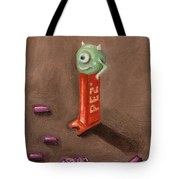 Monster Pez Tote Bag by Leah Saulnier The Painting Maniac