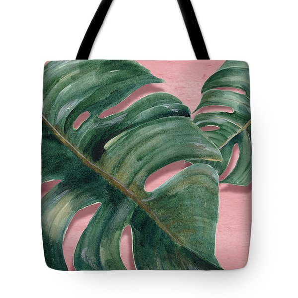 Monstera Leaf  Tote Bag by Mark Ashkenazi