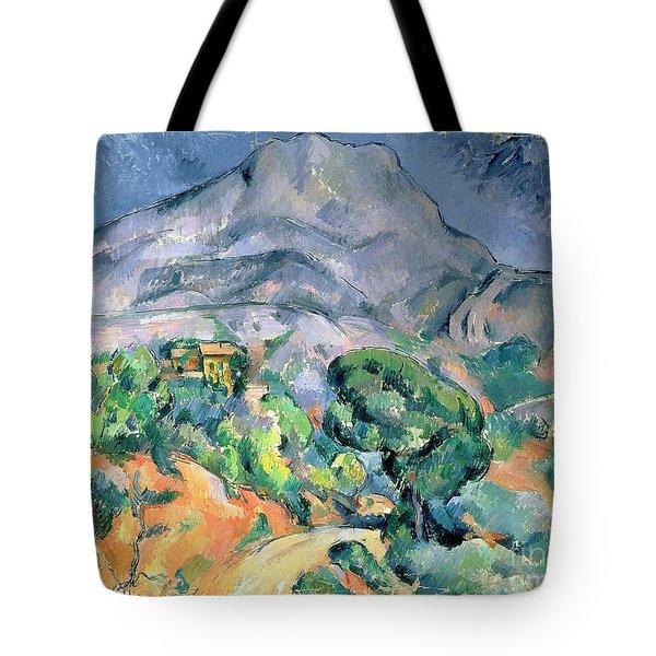 Mont Sainte Victoire Tote Bag by Paul Cezanne
