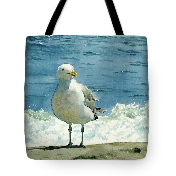 Montauk Gull Tote Bag by Tom Hedderich