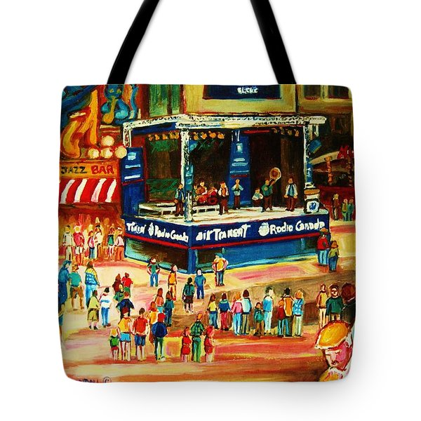 Montreal Jazz Festival Tote Bag by Carole Spandau