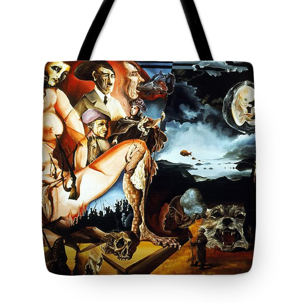 MONUMENT TO THE UNBORN WAR HERO Tote Bag by Otto Rapp