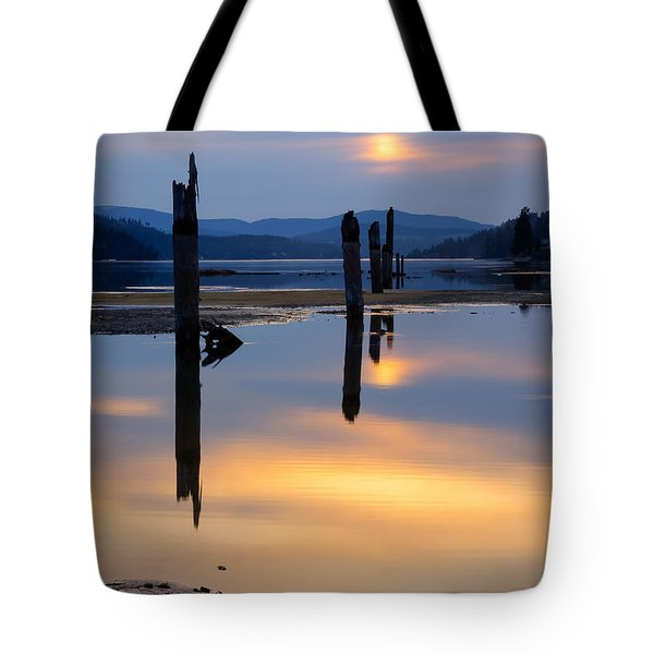 Mood on the Bay Tote Bag by Idaho Scenic Images Linda Lantzy