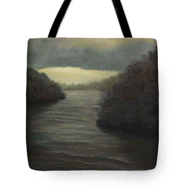 Moody River Tote Bag by Johanna Lerwick