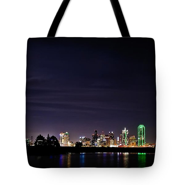Moon Over Dallas Tote Bag by Charles Dobbs