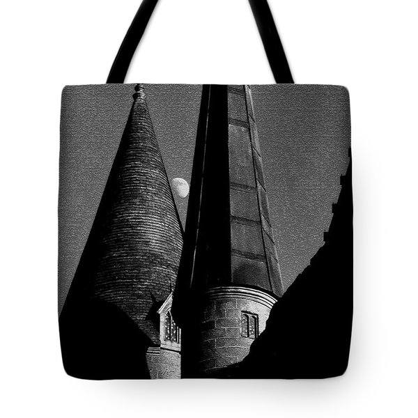 Moon Over Hogwarts Tote Bag by David Lee Thompson