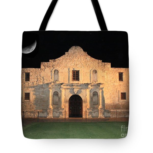 Moon over the Alamo Tote Bag by Carol Groenen
