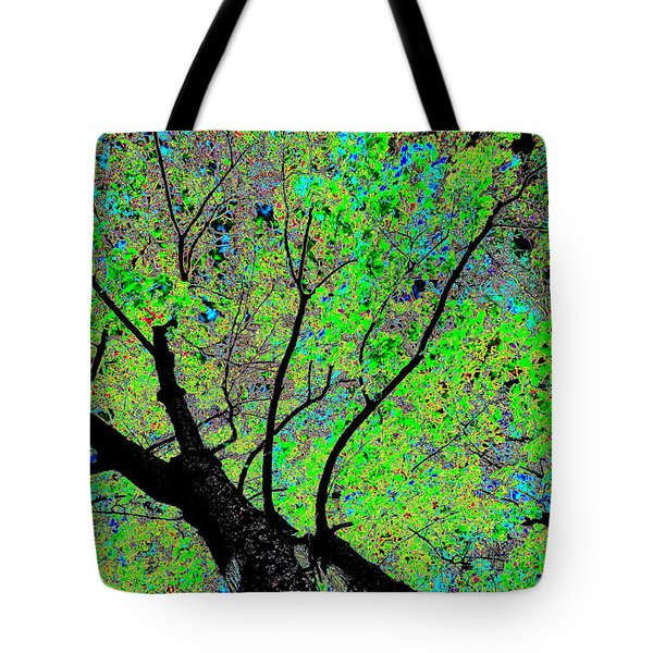 Moon Over The Maples Tote Bag by Will Borden