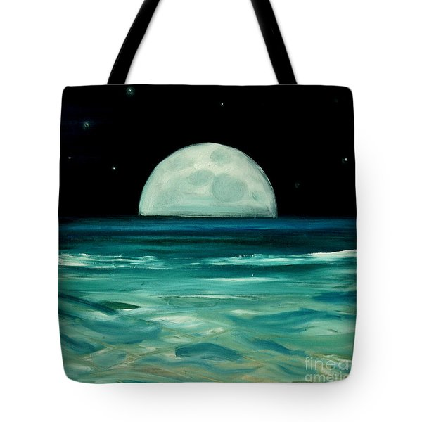 Moon Rising Tote Bag by Caroline Peacock
