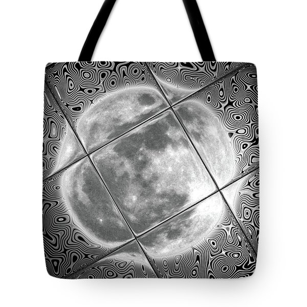 Moon Tile Reflection Tote Bag by Stephen Younts