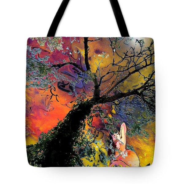 Moonbathing Tote Bag by Miki De Goodaboom